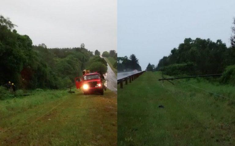 El temporal dejó sin suministro de energía a unas 17 localidades