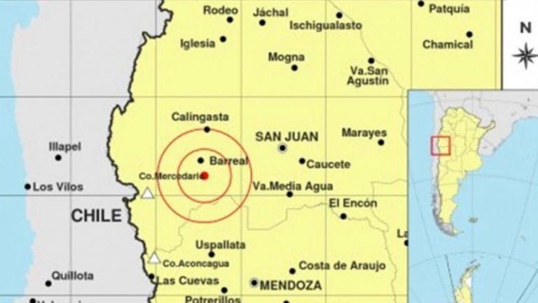 Un sismo de 5.4 grados hizo temblar la provincia de San Juan y se sintió en Mendoza