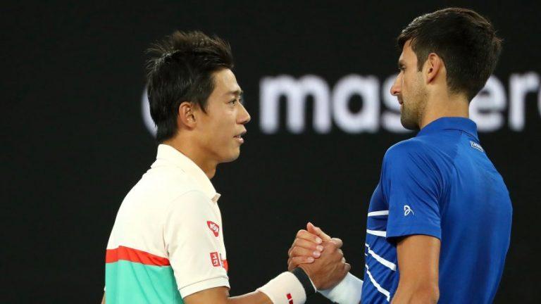 Tenis: Djokovic clasificó a las semifinales del Abierto de Australia tras el abandono de Nishikori