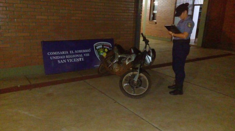 Recuperaron una moto robada en El Soberbio