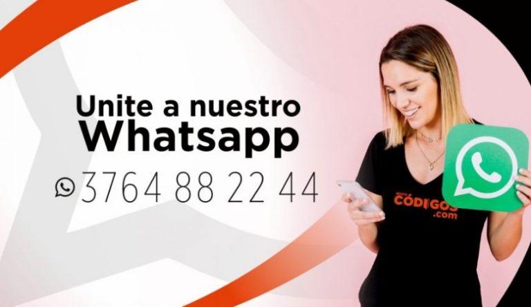 Códigos suma otro grupo de WhatsApp para que sigas informado