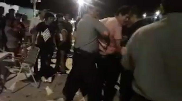 En Candelaria y San Ignacio, los Carnavales terminaron a la piñas: detenidos y policías heridos