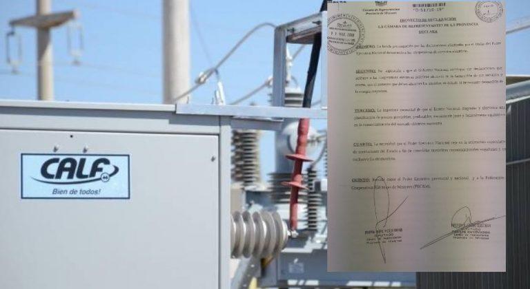 Legislatura: proyecto busca que el Presidente rectifique sus declaraciones sobre las cooperativas eléctricas