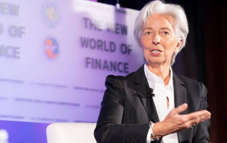 """Lagarde aseguró que la economía argentina """"empieza a repuntar"""""""
