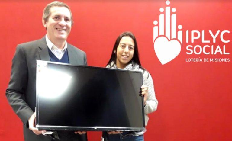 Para una rifa, IPlyc Social donó TV a palista que competirá en Eslovaquia