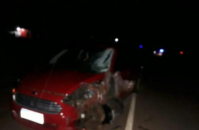 Un motociclista falleció en camino al hospital tras colisionar con un auto en ruta 8