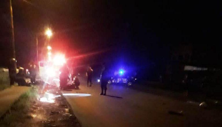 Alem: tres motociclistas resultaron con politraumatismos graves tras chocar de frente en la ruta 225