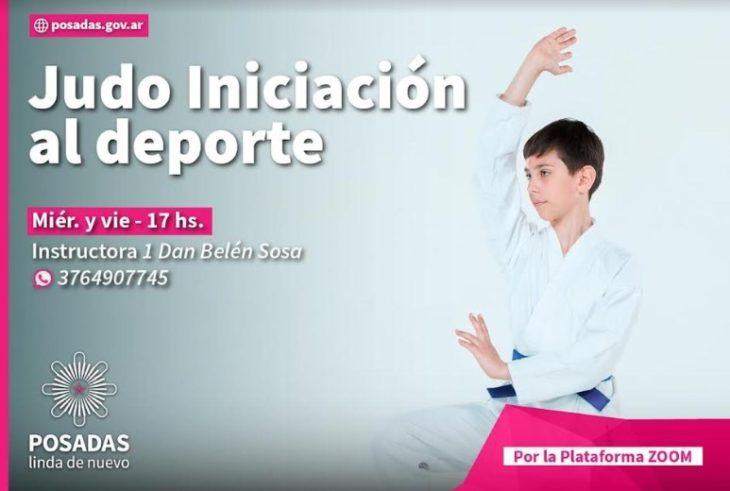 Dictarán clases virtuales de judo en Posadas