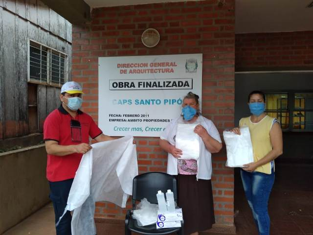 Se entregaron 150 kits de seguridad a Hospitales, Caps y Comunidades Mbya de la Provincia