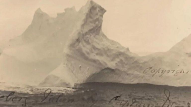 Foto inédita: el iceberg que hundió el Titanic