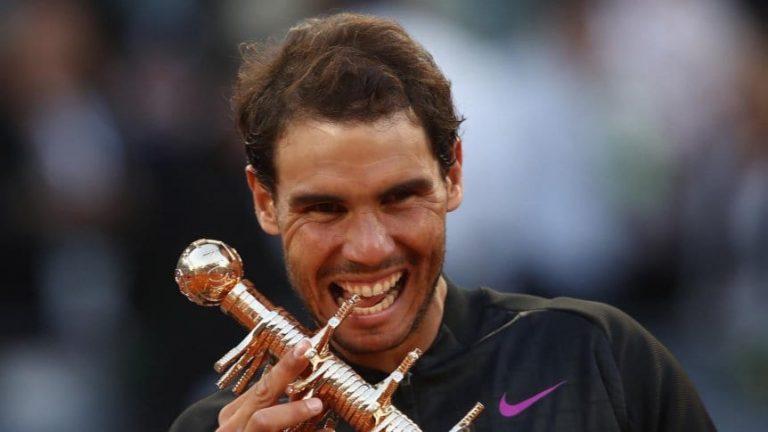 Tenis: el español Rafael Nadal confirmó que jugará el Masters 1000 de Madrid