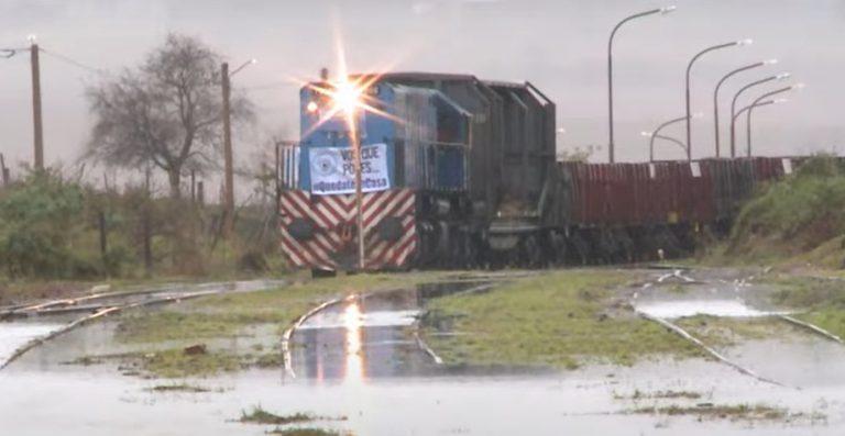 Llegó a Garupá el tren de cargas que unirá Misiones-Buenos Aires