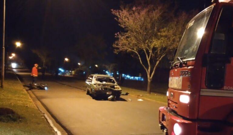 Automovilista alcoholizado protagonizó un choque sobre la avenida Las Misiones de Garupá y terminó preso