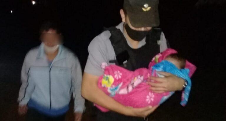 San Vicente: policías asistieron a una bebé que se descompensó en su hogar