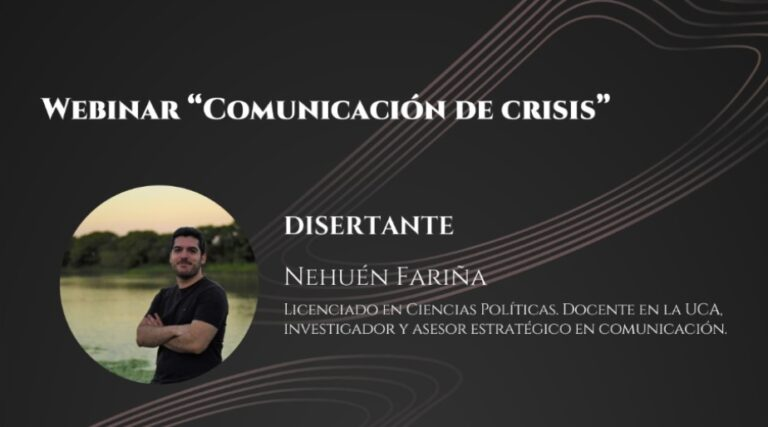 """Brindarán un webinar sobre """"Comunicación de crisis"""""""