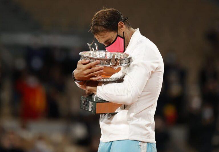 Rafael Nadal, campeón en Roland Garros, el tenista alcanzó el récord de Roger Federer