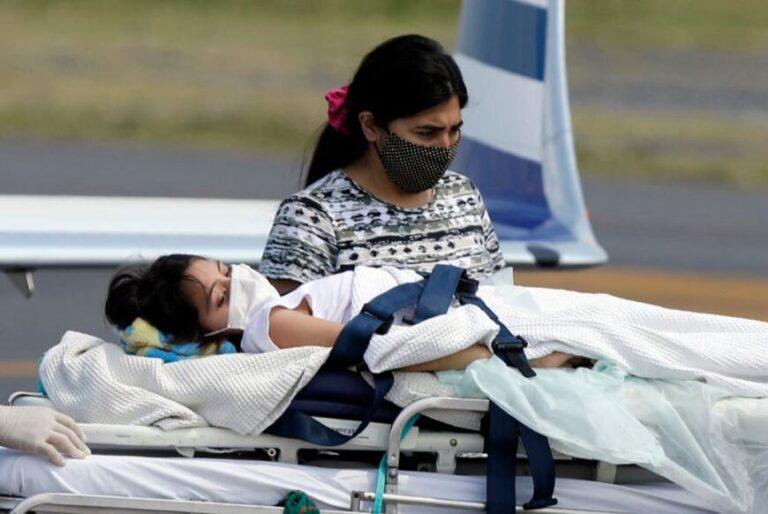 Abigail, la niña santiagueña, ya está en Buenos Aires para recibir un tratamiento oncológico