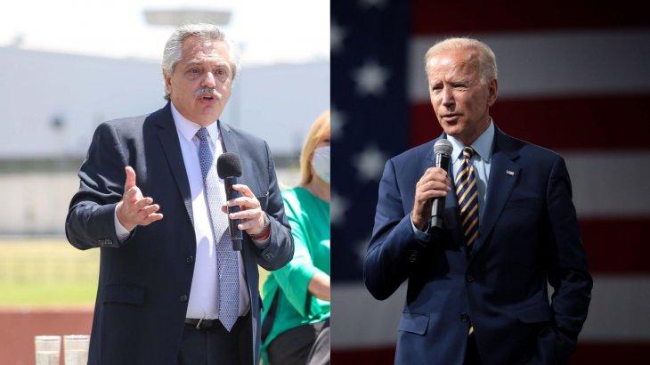Fernández saludó a Joe Biden como nuevo presidente de EEUU