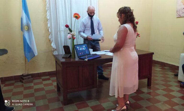 Se casaron vía online: en Misiones se celebró el primer matrimonio a la distancia del país