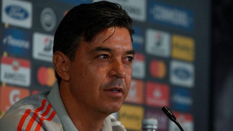 """Gallardo, DT de River: """"No somos un desastre, jugamos mal dos partidos"""""""