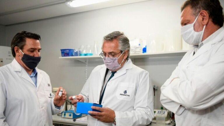 """Fernández mostró su """"orgullo"""" por el desarrollo del suero hiperinmune anti Covid-19"""