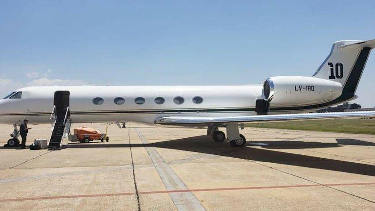 Cómo es el avión de Lionel Messi en el que viajó la comitiva presidencial a México