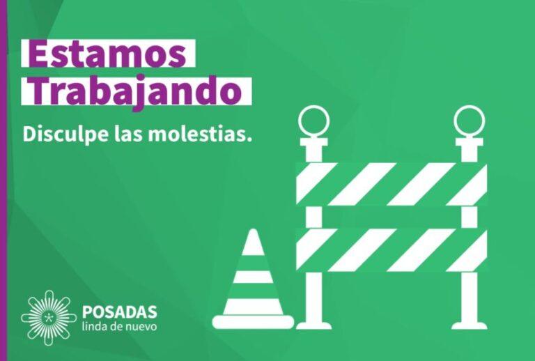 Informan cortes de calles y avenidas por obras en Posadas