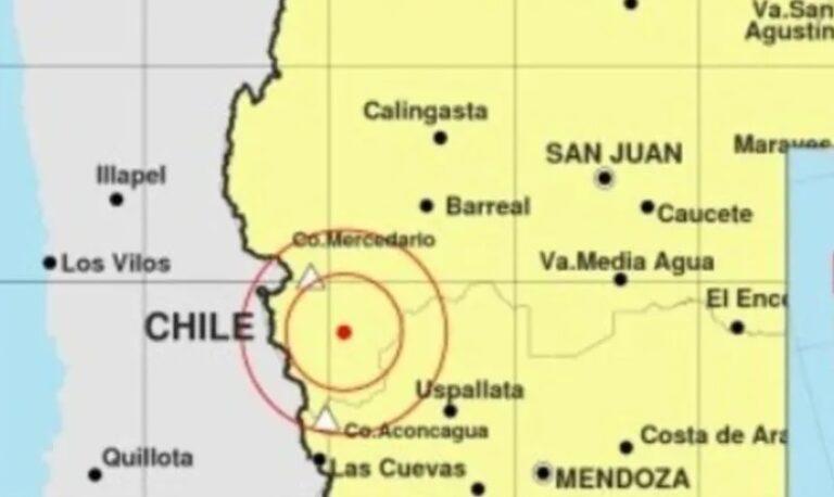 Un fuerte temblor sacudió San Juan y parte de Mendoza