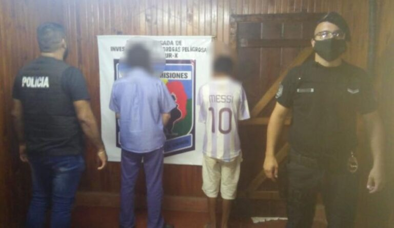 Secuestraron elementos robados y arrestaron a dos hombres en el barrio San Cayetano de Candelaria