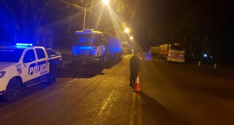 Retuvieron otros seis camiones sojeros que evadieron el control de ATM