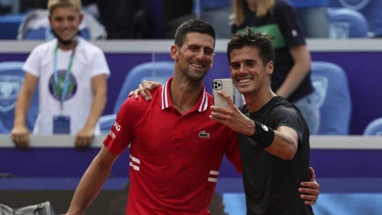 Tenis: el argentino Coria no pudo con Djokovic y cayó  6-1 y 6-0 en cuartos del ATP 250 de Belgrado 2