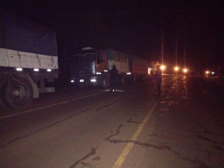 Interceptaron otros cuatro camiones sojeros que evadieron el control fiscal en la provincia