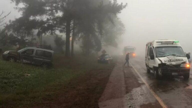 Cuatro personas heridas de gravedad tras una múltiple colisión en Colonia Victoria