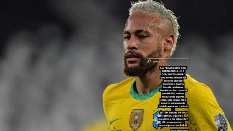 Neymar, contra los brasileños que alientan por Messi y la Selección Argentina