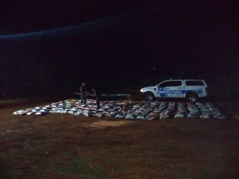 Prefectura secuestró más de cuatro toneladas de granos de soja en El Soberbio