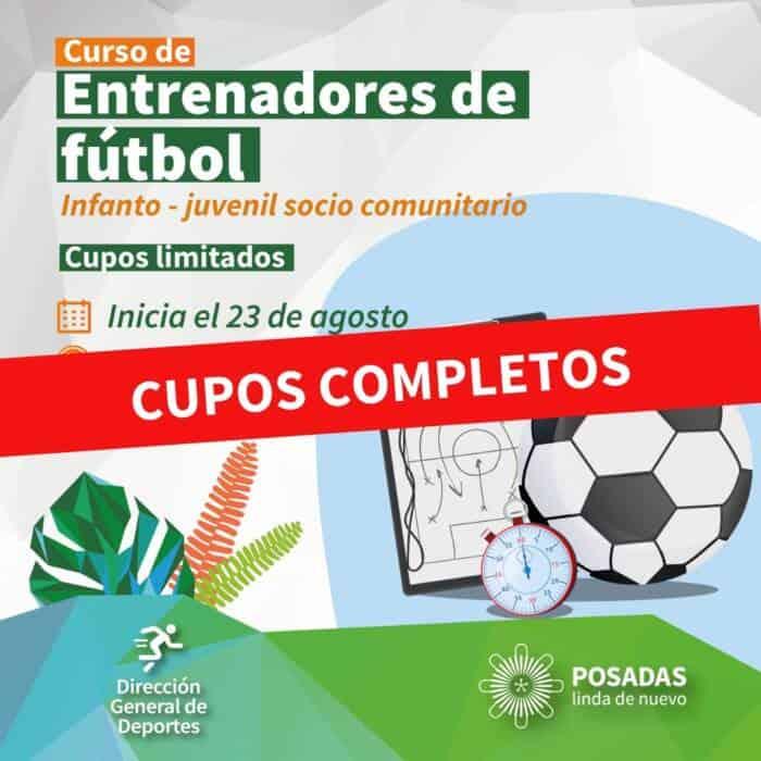 Posadas: arrancan las clases en la Escuela de Entrenadores de fútbol infanto-juvenil