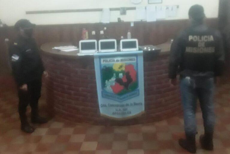 Recuperaron computadoras robadas de una escuela de Concepción de la Sierra