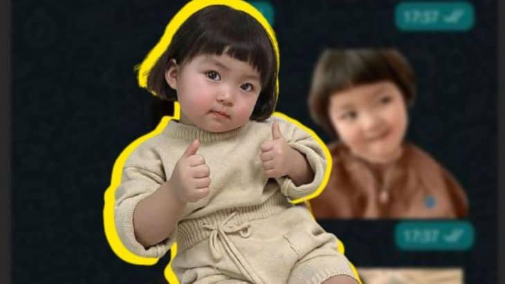 WhatsApp: ya no se podrá usar los stickers de la niña coreana